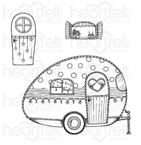 Happy Camper Cling Stamp Set