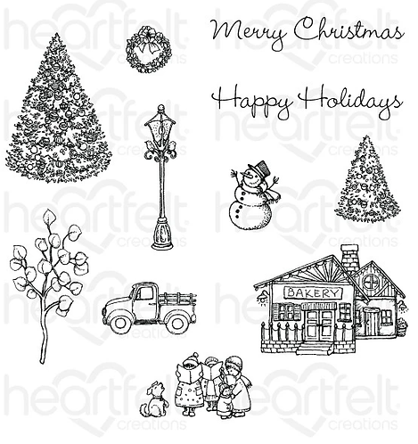 Festive Winterscapes Collection - Festive Winterscapes Cling Stamp Set