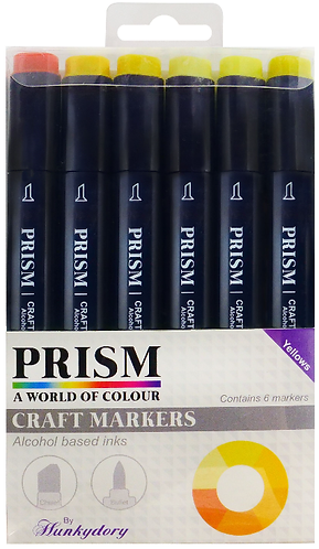 Prism Craft Markers Set 8 - Yellows X 6 Pens