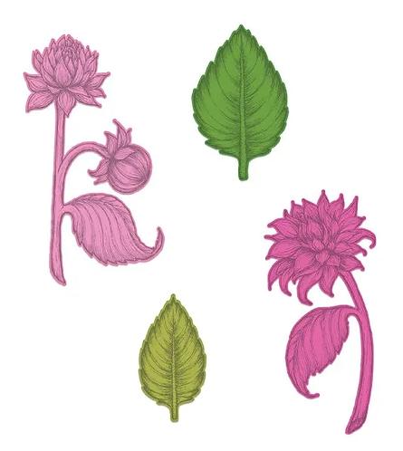 Dahlia and Leaves Die