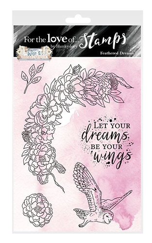 Wise & Beautiful - Feathered Dreams A6 Stamp Set