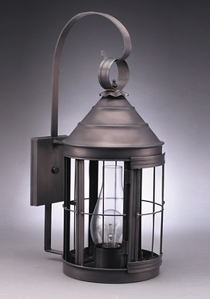 Six Sided Round Lantern Wall Mount - Medium