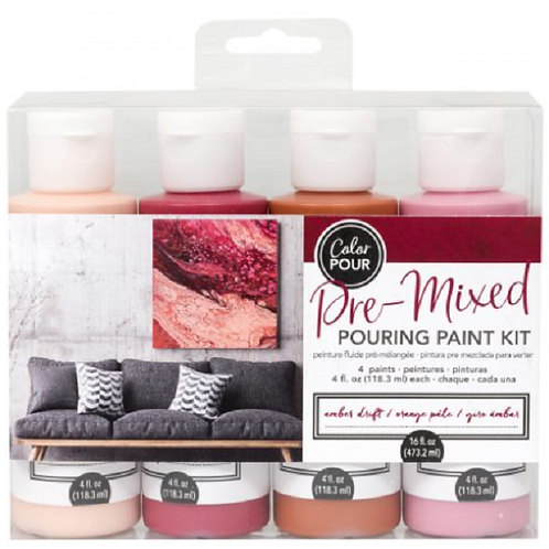 POURING PAINT KIT – AMBER