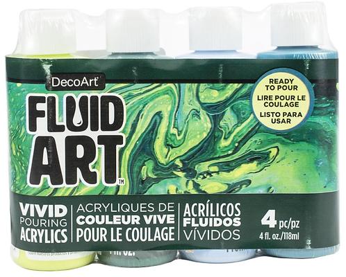 FluidArt Paint Pouring Value Pack 4/Pkg - Jungle