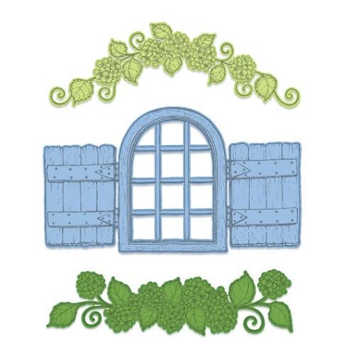 Cottage Window & Hydrangea Die