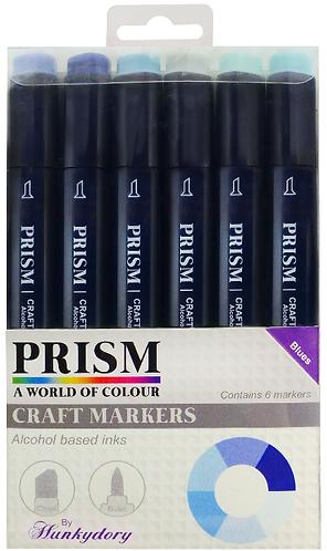 Prism Craft Markers Set 4 - Blues x 6 Pens