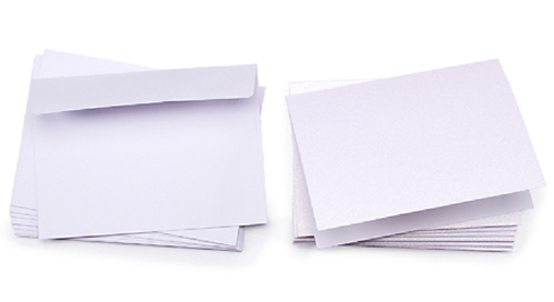 Core'dinations® Glitter Prints Cards and Envelopes - White - A7 - 10 sets