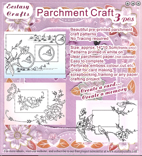 Parchment Patterns - Butterflies, Birds and Fish