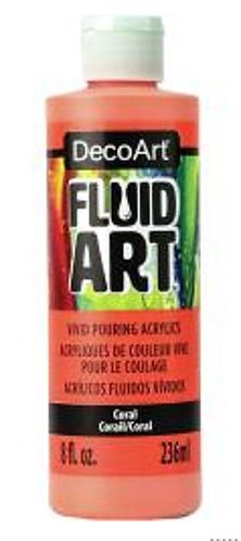 FluidArt 8 oz Single -Coral