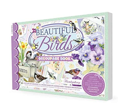 Beautiful Birds Decoupage Book