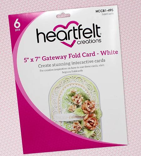 "Heartfelt Creations 5"" x 7"" Gateway Fold Card - White"