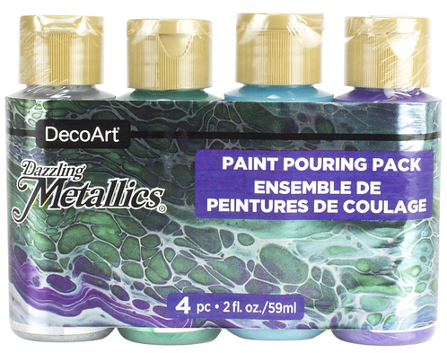 Dazzling Metallics Jewel Tone Paint Pouring Pack