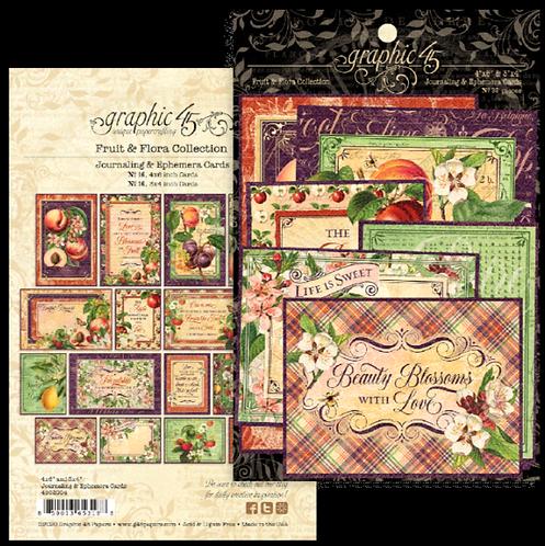 Fruit & Flora Ephemera & Journaling Cards