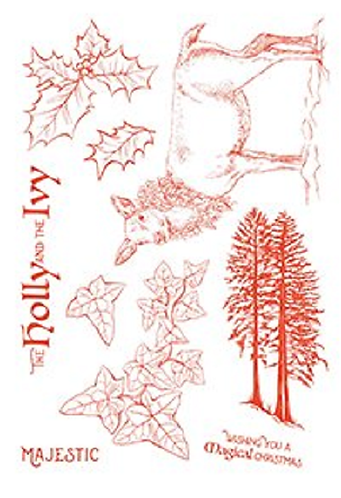 Sheena The Holly and The Ivy A5 Stamp Set
