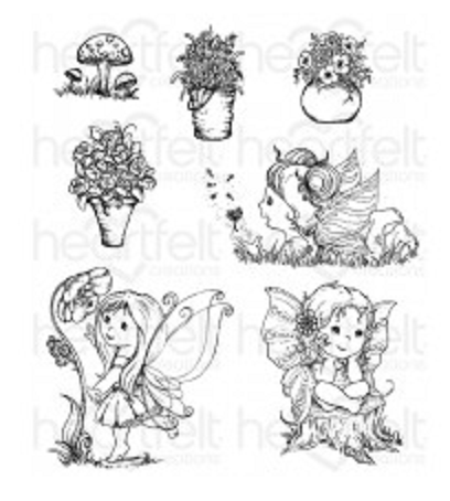 Wildwood Cottage Darlings Cling Stamps