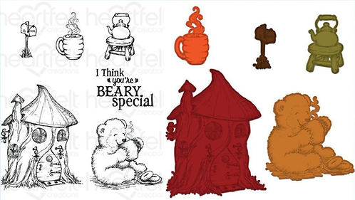 Beary Fun Retreat Collection - Happy Time Treehouse Die & Stamp Set