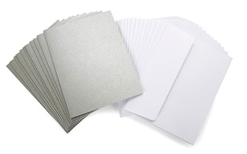Core'dinations Cards & Envelopes - Silver Pearl