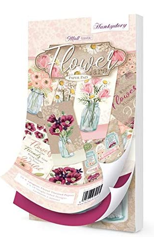Flower Jars DL Paper Pad