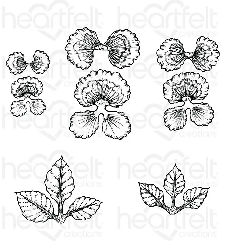 Burst of Spring Collection - Cheery Pansy Cling Stamp Set