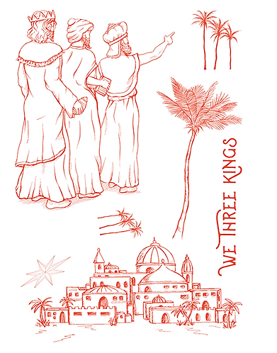 Sheena We Three Kings A5 Stamp Set
