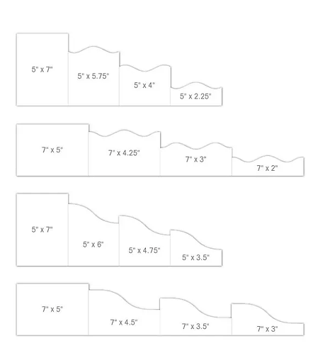 "5""x 7"" Foldout Cards-White"