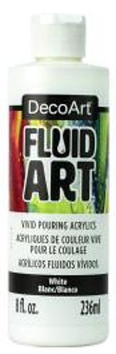 FluidArt 8 oz Single -White