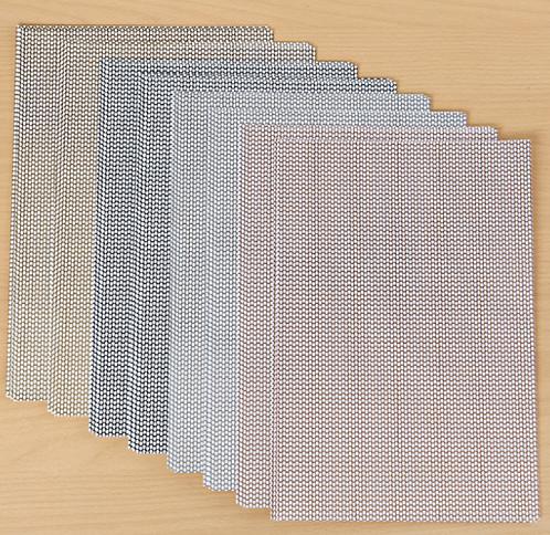 Honeycombed Metallic Woven Paper