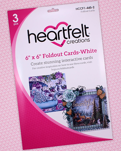 "Heartfelt Creations 6""x 6"" Foldout Cards-White"