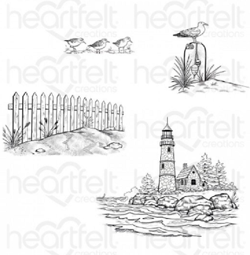 Sea Breeze Collection - Sea Breeze Harbor Cling Stamp Set