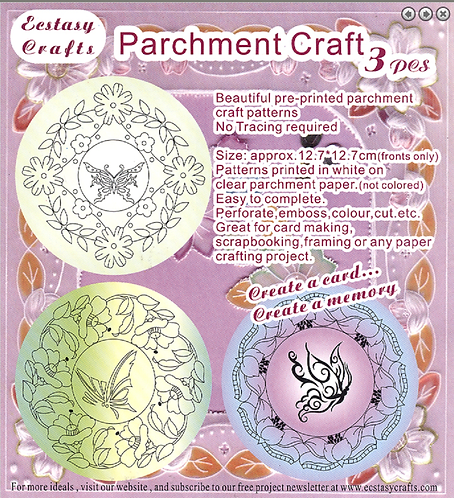 Parchment Patterns -Flowers & Butterflies