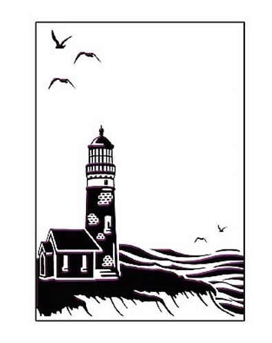 Coastal View Embossing Folder