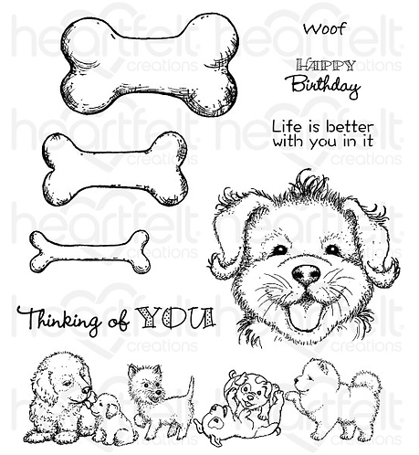 Pampered Pooch Collection - Paw-fect Pooches Cling Stamp Set