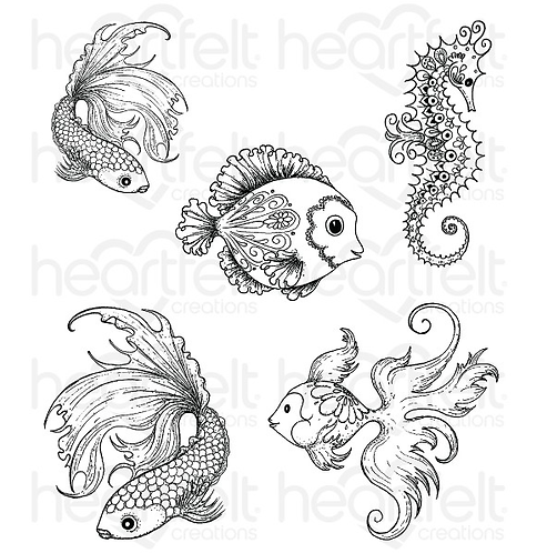 Under The Sea Cling Stamps