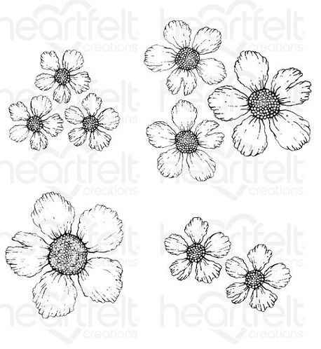 Small Wild Rose Cling Stamp Set