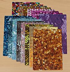Sequin Patterned Cardstock - 15 sheets