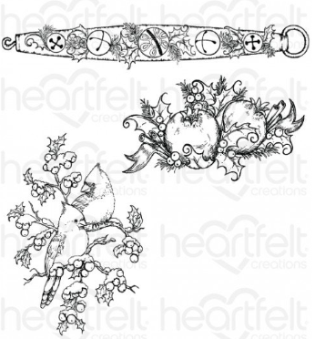 Holly Berry Jingle Cling Stamp Set
