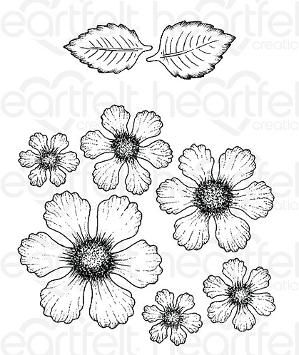 Butterfly Medley Collection - Botanical Rose Cling Stamp Set