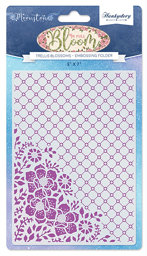 Trellis Blossoms Moonstone Embossing Folder