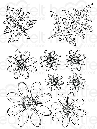 Peacock Paisley Collection - Delightful Daisies Cling Stamp Set