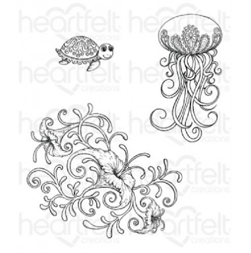 Under the Sea Coral Cling Stamp Set
