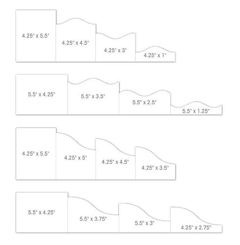 "Heartfelt Creations 4 1/4"" x 5 1/2"" Foldout Cards-White"
