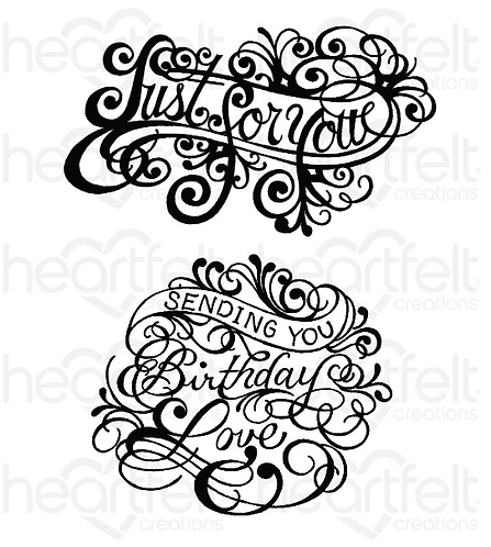 Ornate Just for You Cling Stamp Set
