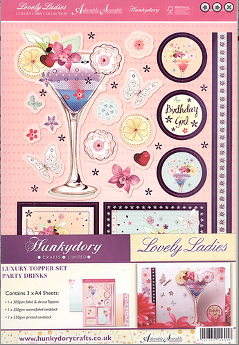 Lovely Ladies Luxury Topper Set Party Drinks
