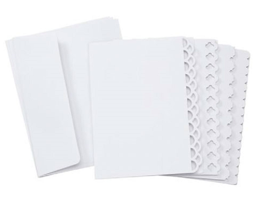 Core'dinations Cards and Envelopes - White Deco Edge