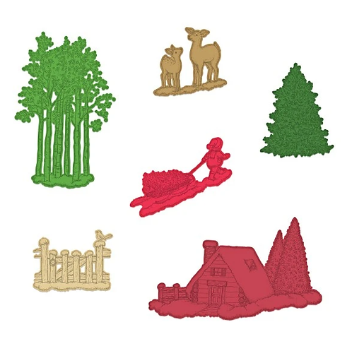 Festive Winterscapes Collection - Woodsy Winterscapes Die