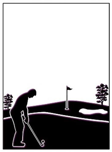 Golfing Day Embossing Folder