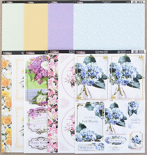 Kanban All Occasions Floral Topper and Background Kit