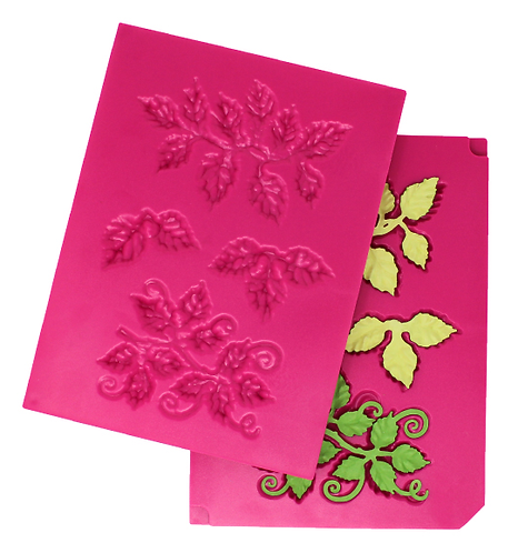 3D Leafy Accents Shaping Mold