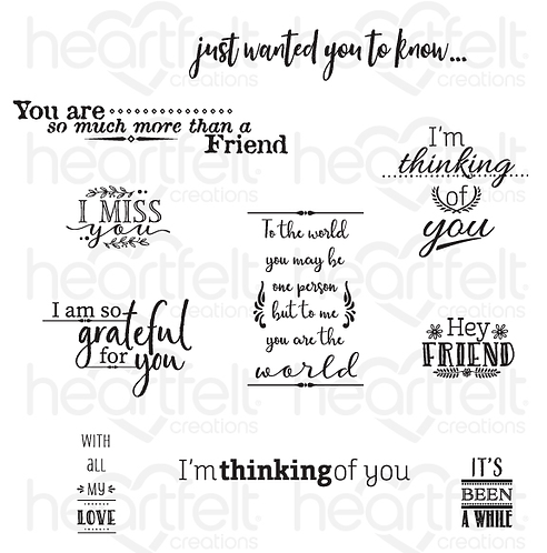 For My Friend Sentiments Cling Stamp Set