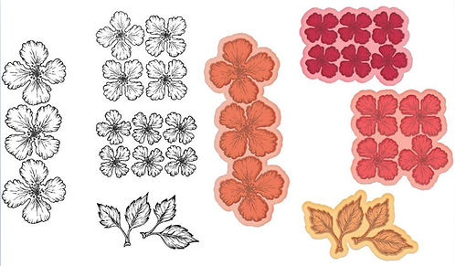 Oakberry Lane Blossoms Die and Stamp Set